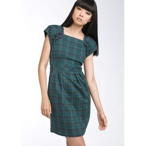 Nanette Lepore Plaid Mini Sheath Dress